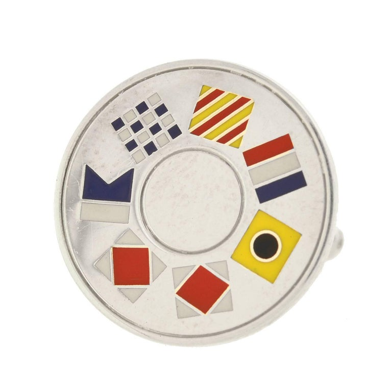 Contemporary Tiffany & Co. Vintage Enameled Nautical Flag