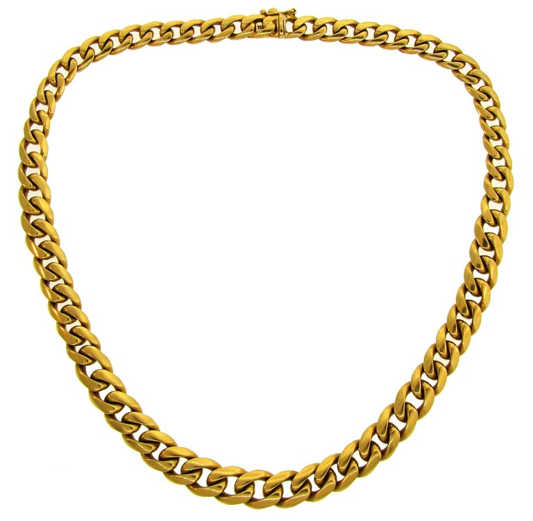 Tiffany & Co. Yellow Gold Curb Link Chain Necklace, 1970s