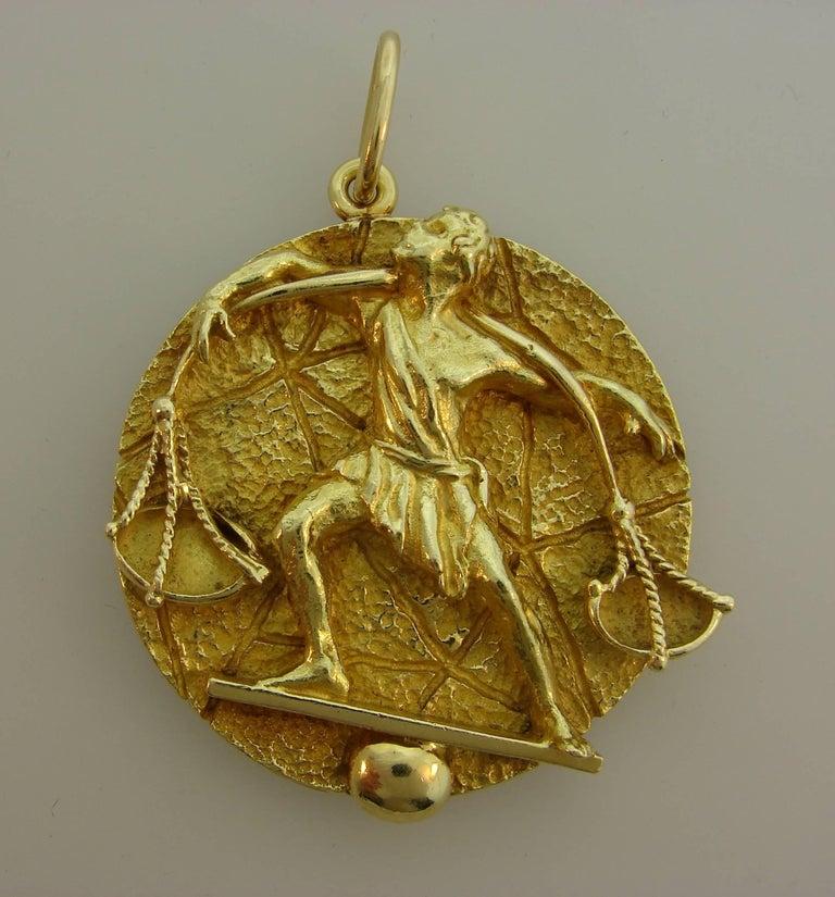 89e50681f8ecb Tiffany & Co. Yellow Gold Libra Zodiac Pendant, 1970s