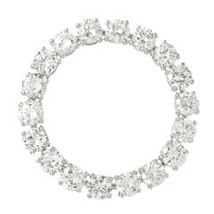 Tiffany & Company Diamond Platinum Large Circle Brooch
