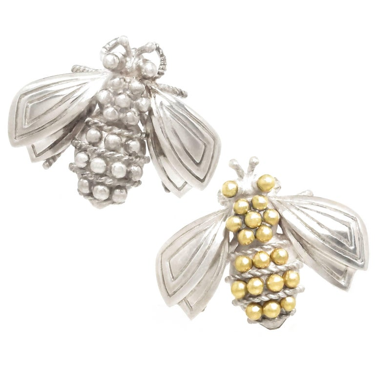 Tiffany & Co. Silver and Gold Bee Pins