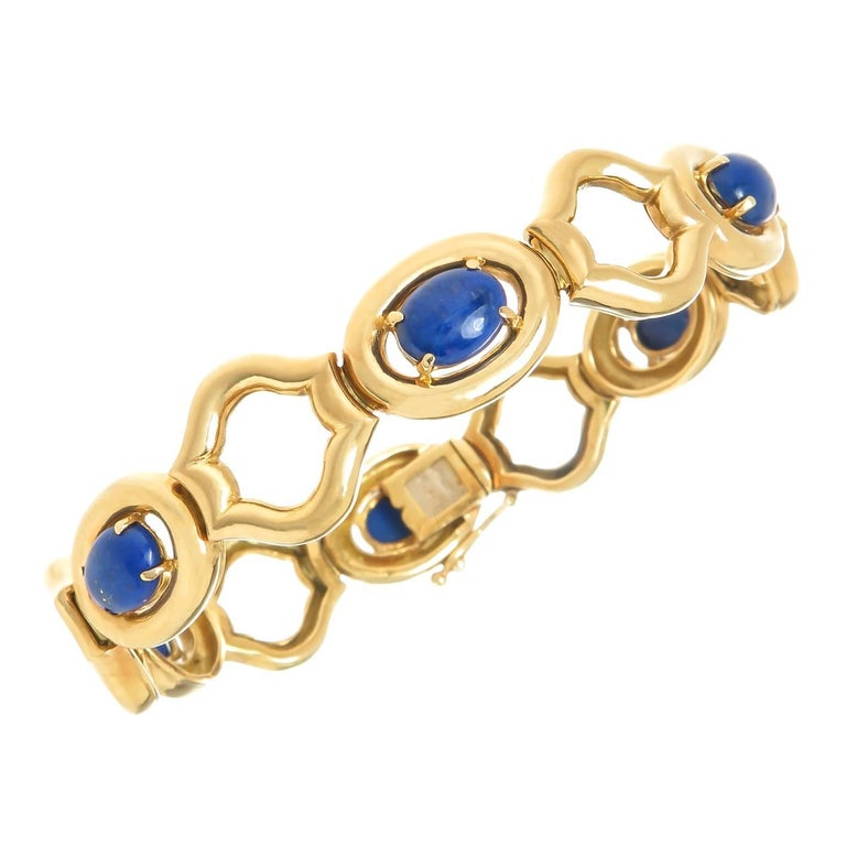 Tiffany & Co. Yellow Gold and Lapis Bracelet