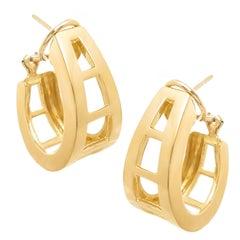 Tiffany & Co. Yellow Gold Hoop Earrings