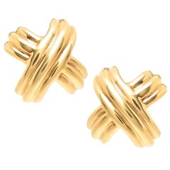 Tiffany & Co. Yellow Gold Signature Collection X Cufflinks