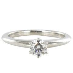 Tiffany 0.45 carat F.VVS2 Diamond Certified Platinium Solitaire Ring