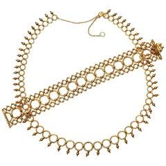 Tiffany 18 Carat Gold Necklace and Bracelet Suite