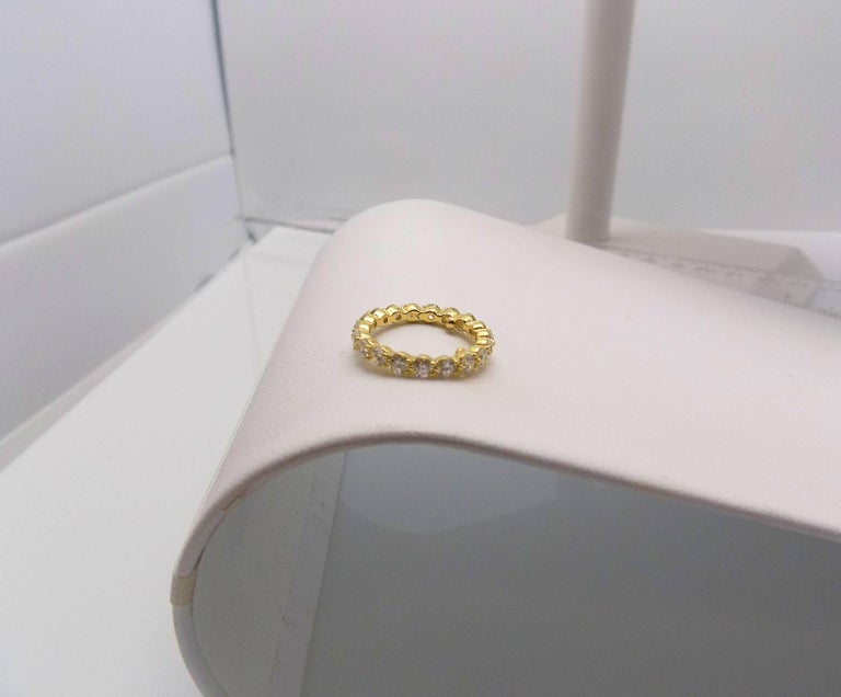 Women's Tiffany & Co. 18 Karat Yellow Gold Diamond Eternity Band For Sale