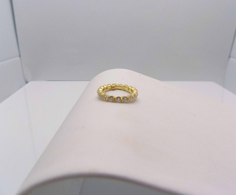 Tiffany & Co. 18 Karat Yellow Gold Diamond Eternity Band For Sale 2