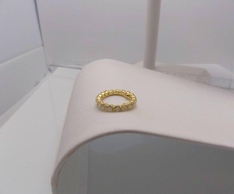 Tiffany & Co. 18 Karat Yellow Gold Diamond Eternity Band For Sale 3