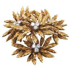 Tiffany 18k Gold and Diamond Brooch