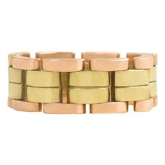 Tiffany 1940s Two-Color Gold Flexible Band Ring, Also Available in Yellow Gold