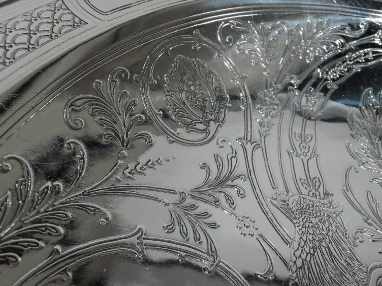 Tiffany Aesthetic Sterling Silver Bowl With Bird And