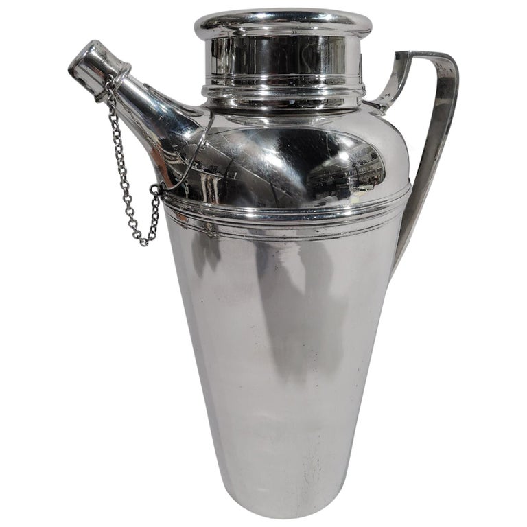 Tiffany American Art Deco Sterling Silver Cocktail Shaker For Sale