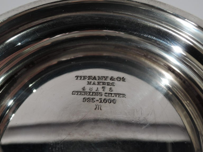 Tiffany American Art Deco Sterling Silver Water Carafe and Cup on Tray For Sale 6