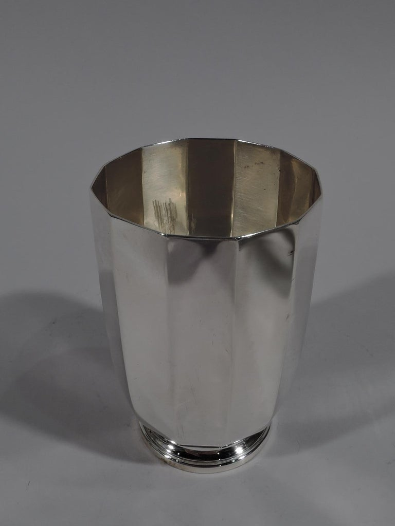 Tiffany American Art Deco Sterling Silver Water Carafe and Cup on Tray For Sale 2