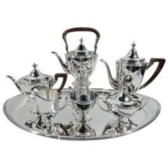 Tiffany American Classical 6-Piece Coffee & Tea Set on Tray
