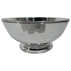 Tiffany American Federal-Style Sterling Silver Footed Bowl