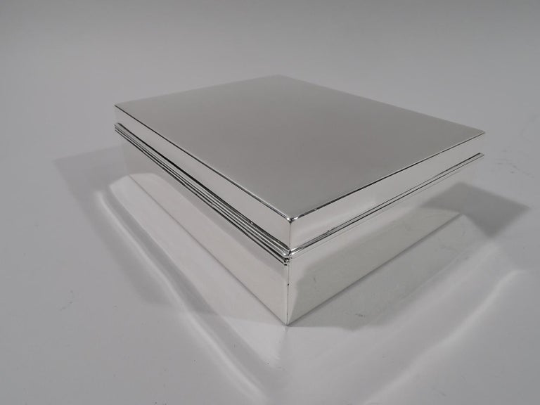 Tiffany American Modern Sterling Silver Box In Excellent Condition For Sale In New York, NY