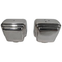 Tiffany American Modern Sterling Silver Salt and Pepper Shakers