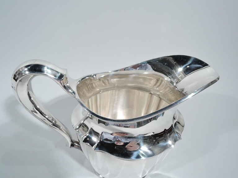 Colonial Revival Tiffany American Sterling Silver Heavy and Traditional Water Pitcher For Sale