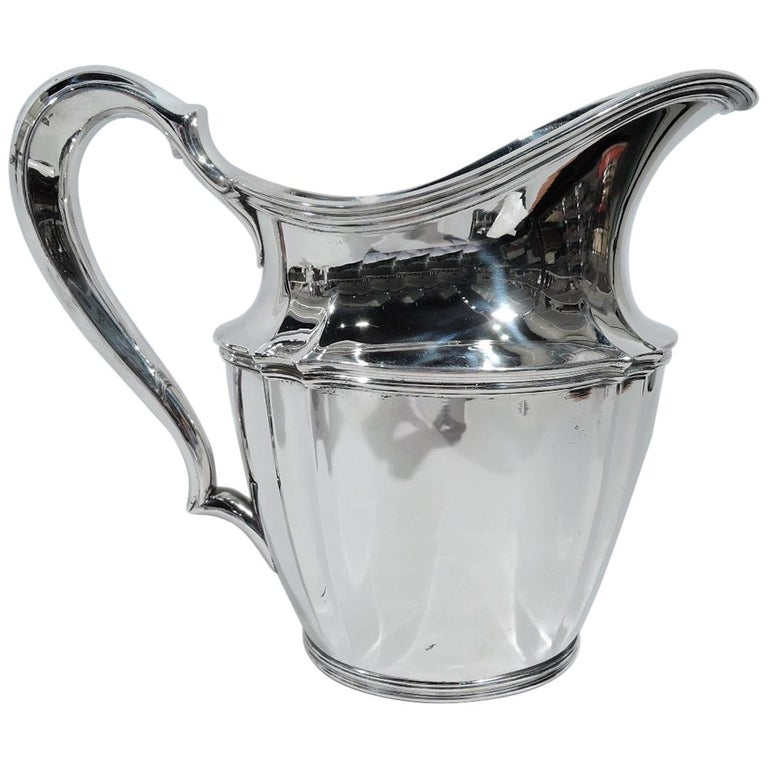 Tiffany American Sterling Silver Heavy and Traditional Water Pitcher For Sale