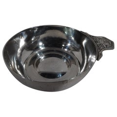 Tiffany American Sterling Silver Porringer with Old King Cole