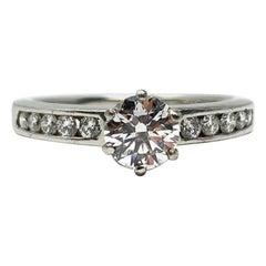 Tiffany & Co. .58 Carat GIA Certified D VVS2 Diamond Engagement Ring