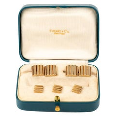 Tiffany & Co. Dress Set of Cufflinks and Studs in 14 Karat Gold, New York, 1950