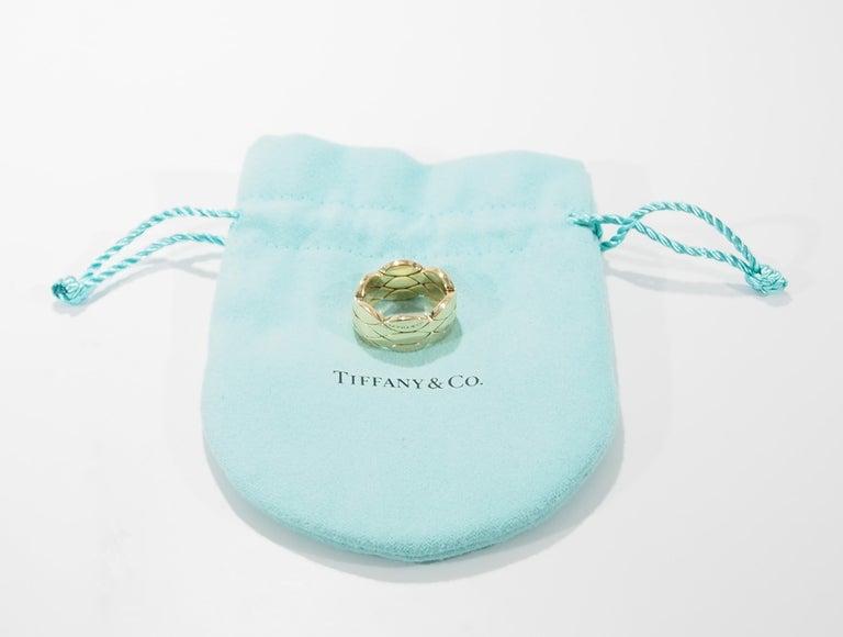 Tiffany And Co Flexible Ring Yellow Gold 18 Karat Genuine