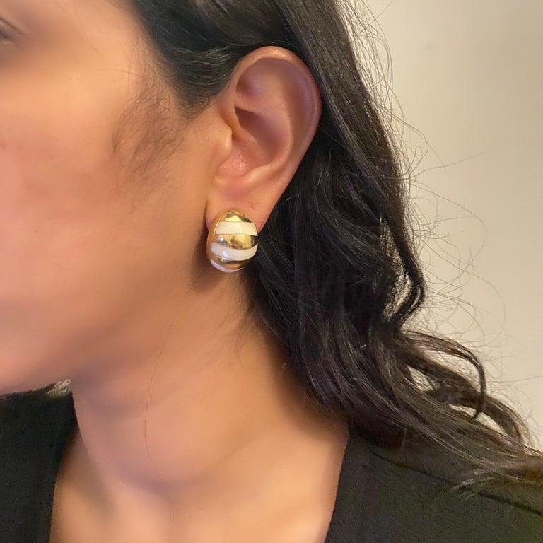 Women's or Men's Tiffany & Co. Gold Stud Earrings For Sale