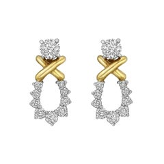 Tiffany & Co. Round Diamond Stud Earrings with Removable Drops