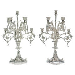 Tiffany and Co. Sterling Silver 9-Light Candelabra Set Paris Exposition 1900