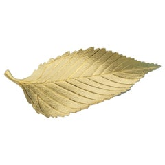Tiffany and Co. Vintage Brooch in 18k Yellow Gold in a Beech Leaf Design