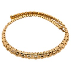 Tiffany & Co. Yellow Gold Basket Weave Necklace
