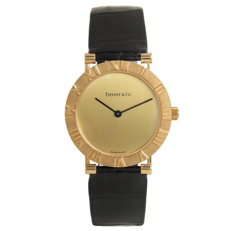 Tiffany & Co. Yellow Gold Atlas Large Quartz Wristwatch