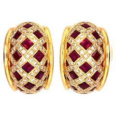 Tiffany & Co. Ruby and Diamond Earrings