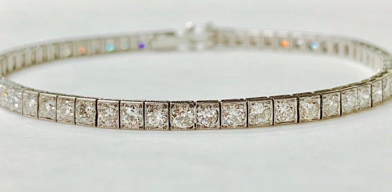 Tiffany & Co. Art Deco Diamond Straight Line Bracelet in Platinum For Sale 6