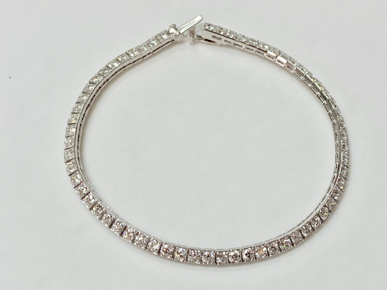 Tiffany & Co. Art Deco Diamond Straight Line Bracelet in Platinum For Sale 7