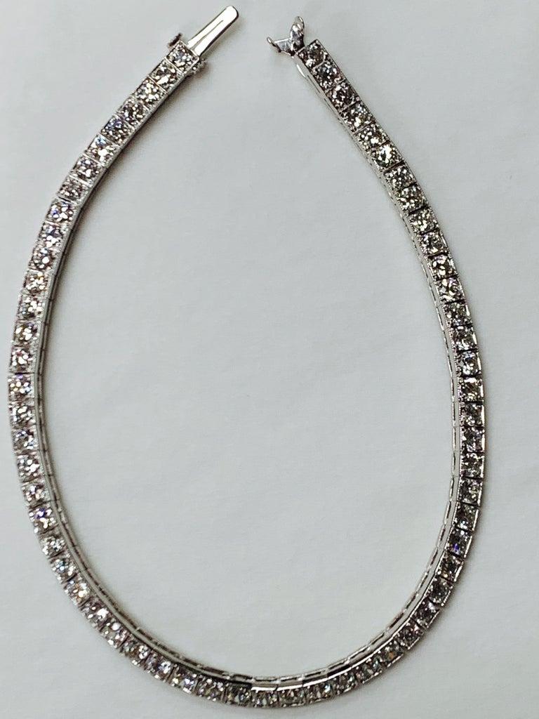 Tiffany & Co. Art Deco Diamond Straight Line Bracelet in Platinum For Sale 1