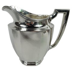 Tiffany Art Deco Sterling Silver Water Pitcher