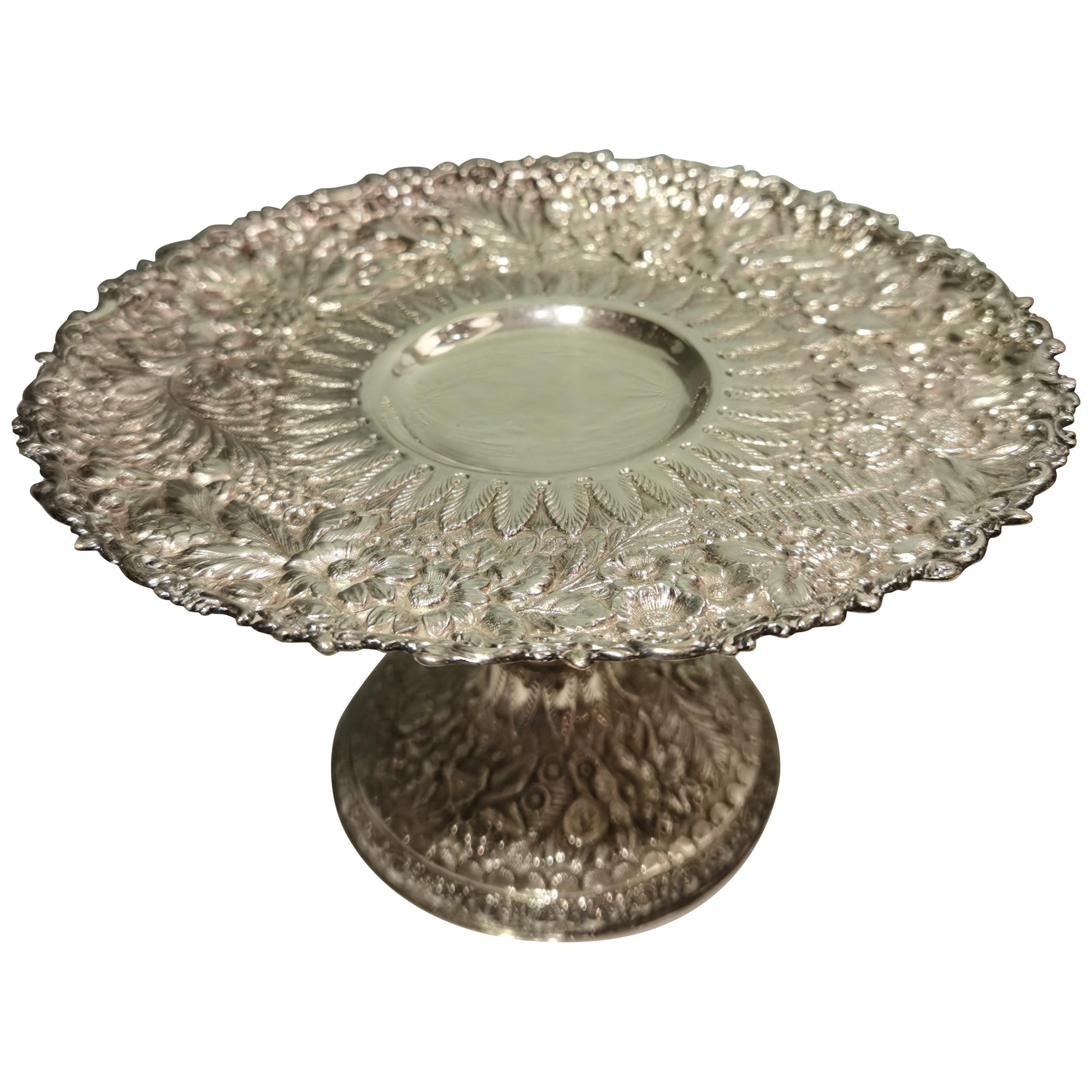 Tiffany Art Nouveau Silver Centerpiece Bowl