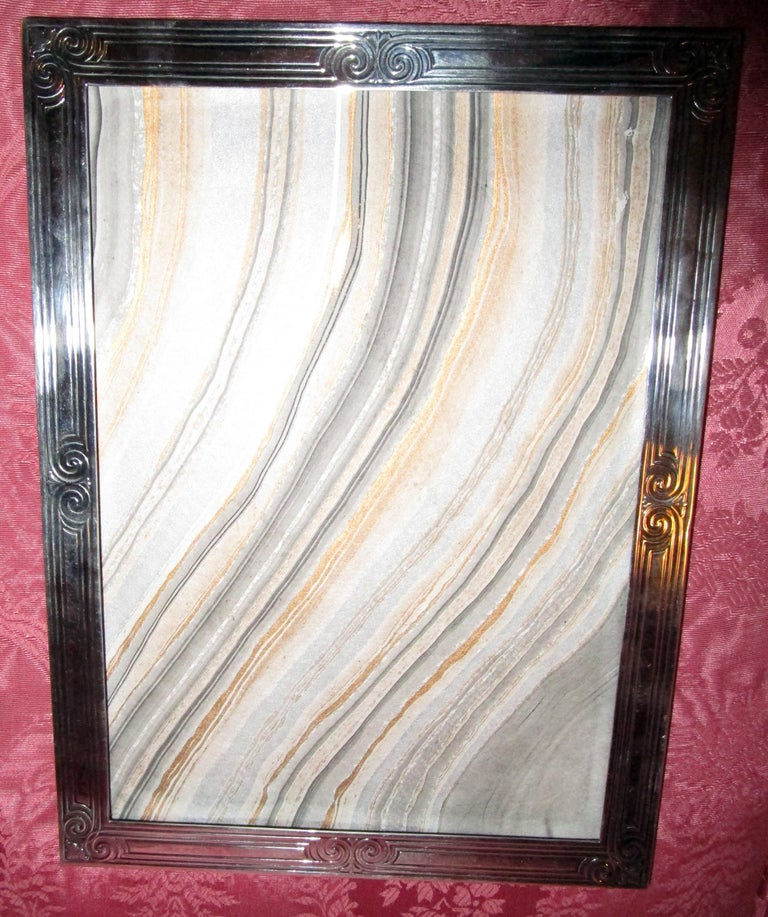 Tiffany Art Deco Sterling Silver Picture Frame For Sale 2