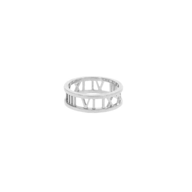 22b4c0f70 Tiffany and Co. Atlas White Gold Ring For Sale at 1stdibs