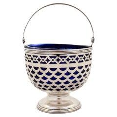 Tiffany Basket with Cobalt Liner