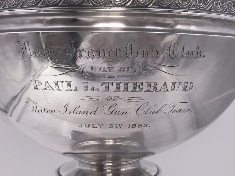 Tiffany by Gorham Sterling Silver Medallion Presentation Trophy Centerpiece Bowl For Sale 1