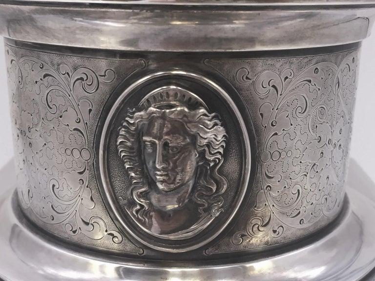 Tiffany by Gorham Sterling Silver Medallion Presentation Trophy Centerpiece Bowl For Sale 2