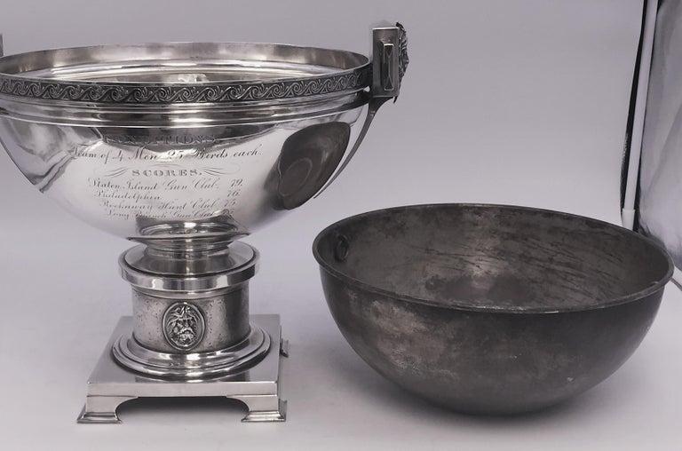 Tiffany by Gorham Sterling Silver Medallion Presentation Trophy Centerpiece Bowl For Sale 4