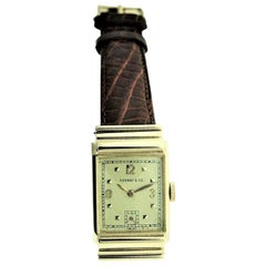 Tiffany by I.W.C. 14 Kt Solid Gold with Original Dial with Solid Gold Numerals