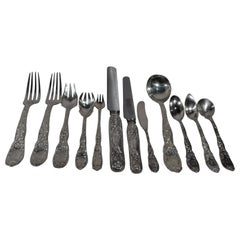 Tiffany Chrysanthemum Sterling Silver Dinner Set with 145 Pieces