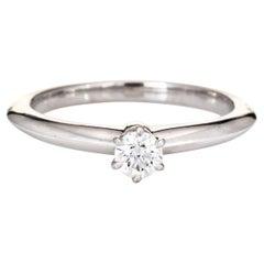 Tiffany & Co 0.19ct Diamond Solitaire Engagement Ring Platinum Estate